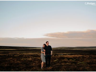 Up and away in the Peak District - Engagement Shoot